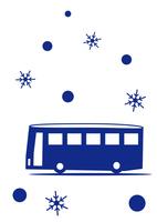 雪 バスで観光