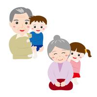 孫とおじいさんとおばあさん