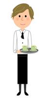 カフェ スタッフ 店員 運ぶ