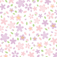手書き風の桜の背景素材