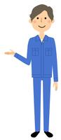作業服の男性 説明
