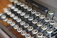 古いタイプライターのキー