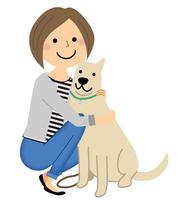 若い女性 ママ 愛犬