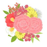 お正月の花_束
