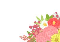お正月の花_背景ヨコ