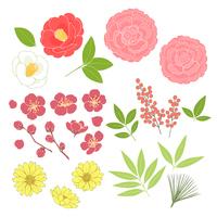お正月の花_素材
