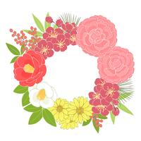 お正月の花_リース