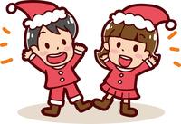 クリスマスのイメージイラスト(男の子と女の子)