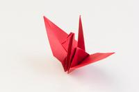 赤い折り鶴