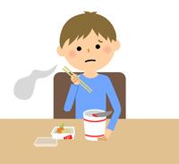 男の子 カップ麺