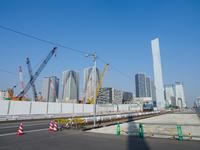 晴海 オリンピック施設建設中