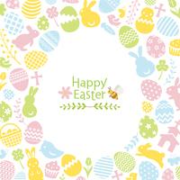 イースター フラットアイコンの卵型のカード