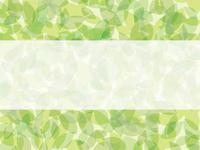 新緑 グリーンのフレーム素材