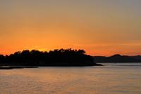 瀬戸大橋記念公園から見た夕暮れ風景