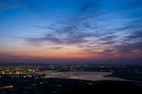蔵王山展望台から朝焼けの眺め
