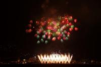 諏訪湖の新作花火大会