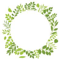 新緑 リーフのフレーム素材