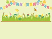 春の草花 草原の風景
