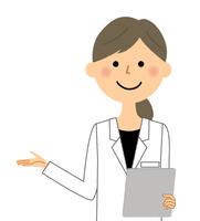 白衣の女性 問診