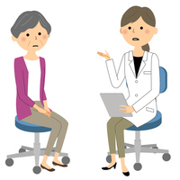 白衣の女性 問診 診察