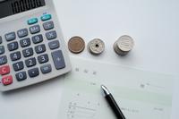 電卓と日本の硬貨