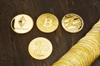 仮想通貨 Bitcoin, Ethereum, Ripple and Litecoin