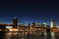 ブルックリン橋 夕景