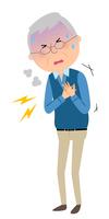 シニア男性 胸 痛み