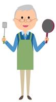 シニア男性 料理