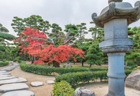 高松城 庭園風景
