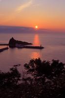 ウトロ港の夕焼け