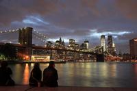 ブルックリンブリッジ 日暮れ後