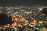 函館 雪夜景