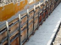 コンクリート塀の型枠