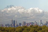 ニューヨーク摩天楼 ラガーディア空港より