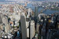 マンハッタン 俯瞰撮影 ブルックリンブリッジ