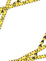 危険 注意 テープのフレーム素材