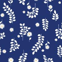 植物と花の柄
