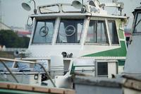 港に停泊している船