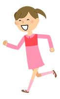 女の子 走る