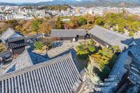 高知城と高知市街地の眺望