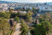 高知城天守からの高知市街地の眺望