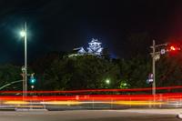 ライトアップされた高知城