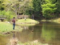 段戸湖の釣り人