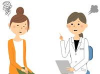 白衣の女性 問診 診察 注意