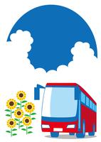 夏 バスで観光