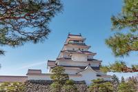 会津若松城の風景