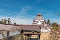 会津若松城 天守と鉄門