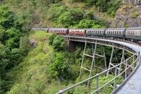 オーストラリア、キュランダ鉄道の列車