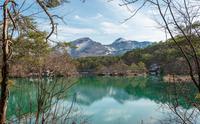 五色沼と磐梯山